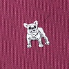 Burgundy Microfiber French Bulldog Extra Long Tie