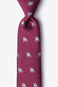 French Bulldog Extra Long Tie