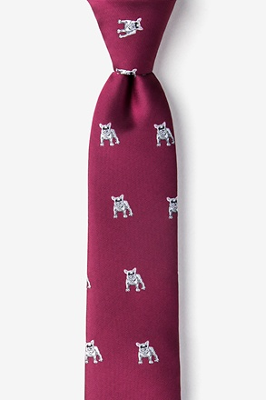 _French Bulldog Skinny Tie_