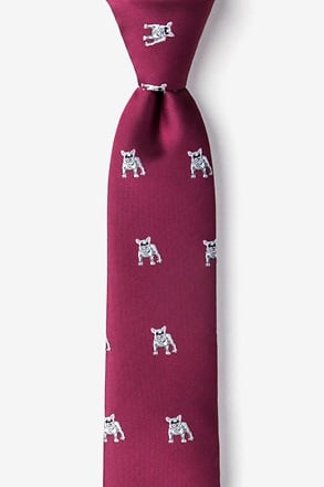 French Bulldog Skinny Tie