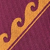 Burgundy Microfiber Ocean Waves Extra Long Tie