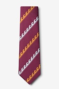 Ocean Waves Burgundy Tie Photo (1)