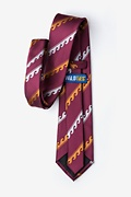 Ocean Waves Burgundy Tie Photo (2)