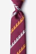 Burgundy Microfiber Ocean Waves Tie