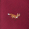 Burgundy Microfiber Prowling Foxes Tie
