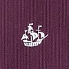 Burgundy Microfiber Ships Ahoy Extra Long Tie