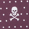 Burgundy Microfiber Skull and Polka Dot Self-Tie Bow Tie