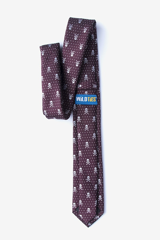 Skull and Polka Dot Skinny Tie