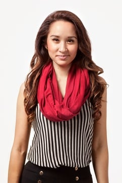 Boston Solid Burgundy Infinity Scarf