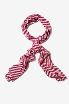 Mens Candy Stripe Burgundy Scarf
