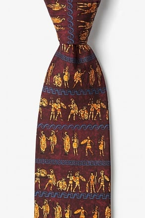 Ancient Greek Warriors Tie