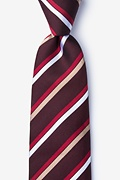 Burgundy Silk Bann Extra Long Tie