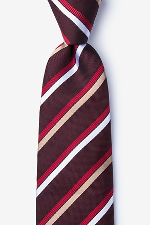 _Bann Burgundy Extra Long Tie_