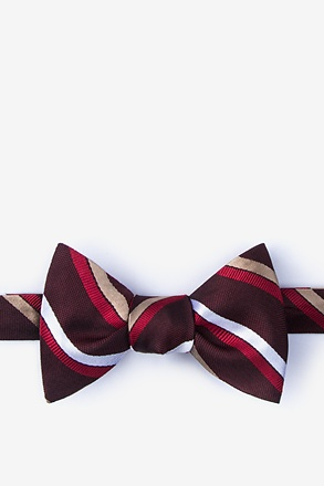 _Bann Burgundy Self-Tie Bow Tie_