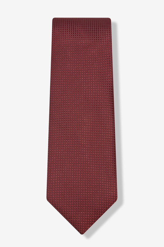 Burgundy Revitalize Extra Long Tie