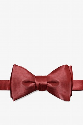 _Burgundy Self-Tie Bow Tie_
