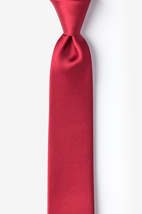 Burgundy Tie For Boys