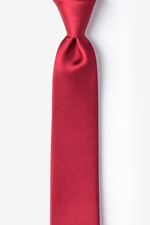 _Burgundy Tie For Boys_