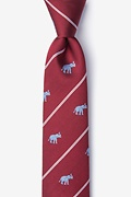 Burgundy Silk Extra Trunk Space Skinny Tie