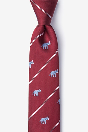 Extra Trunk Space Burgundy Skinny Tie
