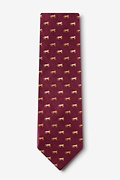 Hold Your Horses Burgundy Tie Photo (1)