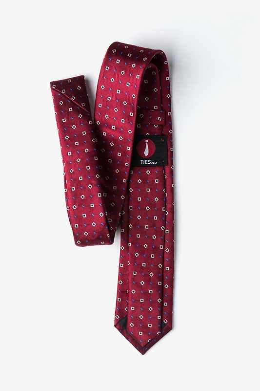 Hoste Burgundy Skinny Tie Photo (1)