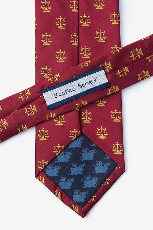 Justice Served Extra Long Tie