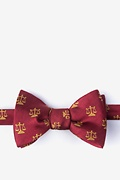 Burgundy Silk Justice Served Self-Tie Bow Tie