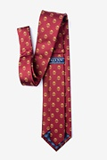 Lawyer Tie Burgundy Extra Long Tie Photo (1)