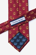 Lawyer Tie Burgundy Extra Long Tie Photo (2)