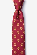 Burgundy Silk Lawyer Tie Skinny Tie
