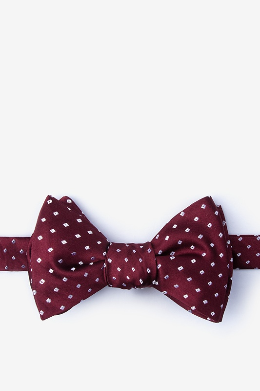 Misool Burgundy Self-Tie Bow Tie Photo (0)