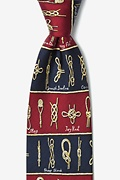 Nautical Knots Burgundy Tie Photo (0)