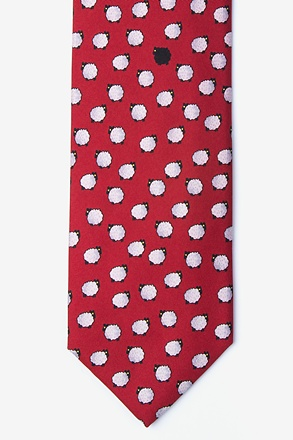 One Black Sheep Burgundy Tie