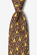 Partridge In A Pear Tree Burgundy Tie Photo (0)
