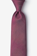 Burgundy Silk Rene Extra Long Tie