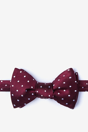 Richards Burgundy Self-Tie Bow Tie