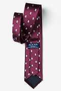 Snowman Print Burgundy Tie Photo (2)