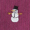 Burgundy Silk Time Waits for Snowman Extra Long Tie