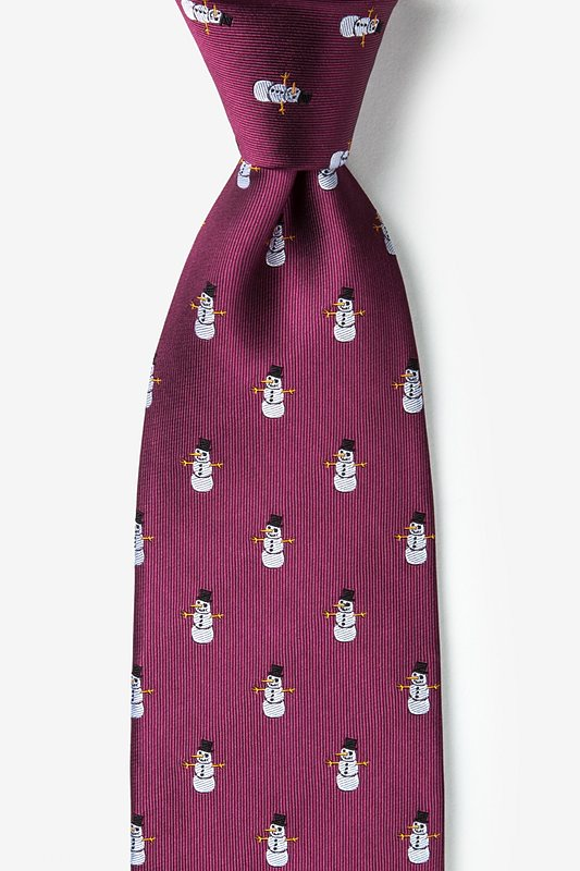 Time Waits for Snowman Tie