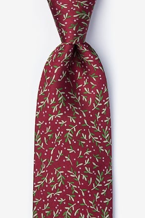 _Under the Mistletoe Burgundy Tie_