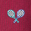 Burgundy Silk What A Racquet Tie