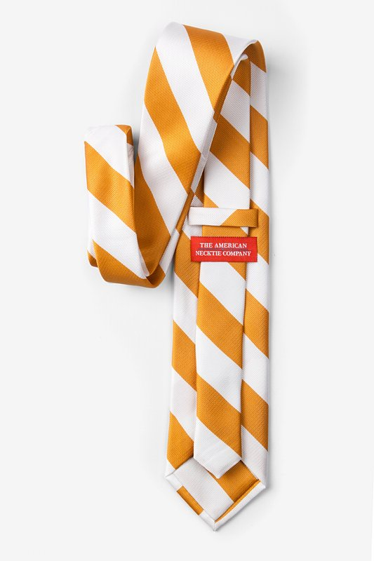 Burnt Orange & White Stripe Extra Long Tie Photo (1)