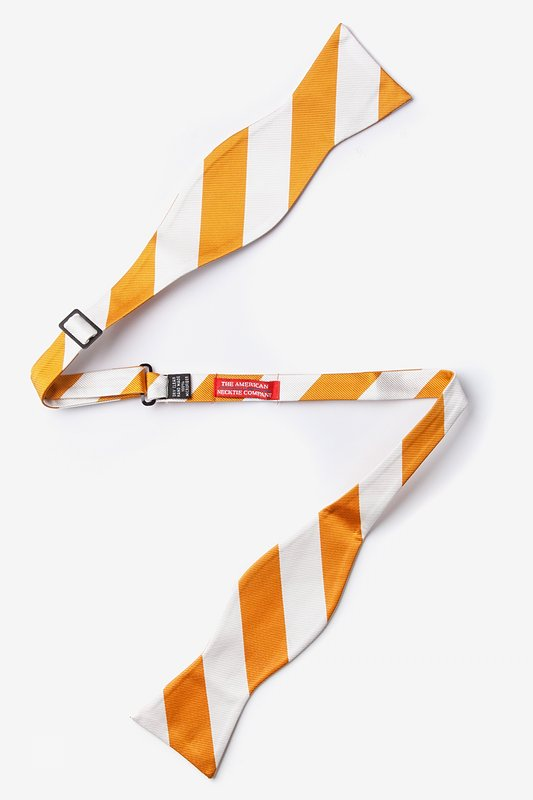 Burnt Orange & White Stripe Self-Tie Bow Tie