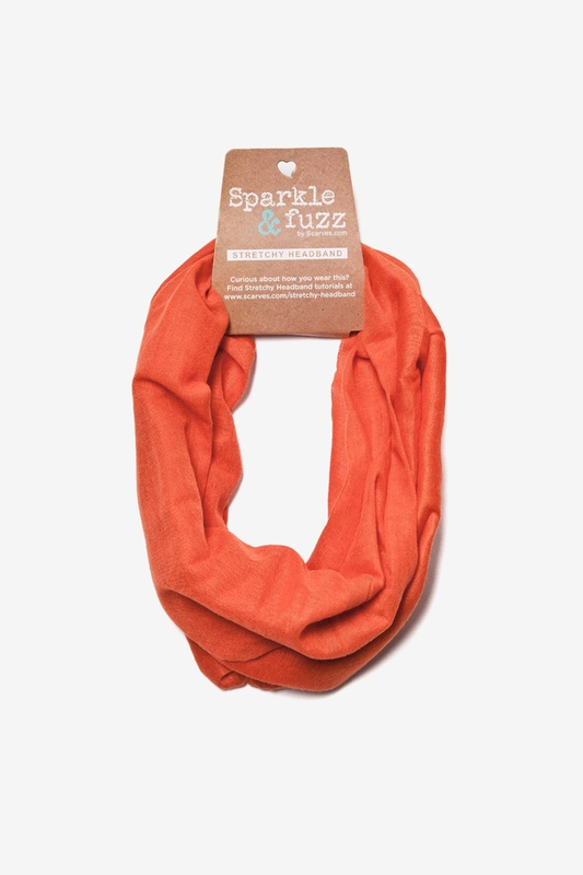 Basic Stretchy Burnt Orange Headband Photo (1)