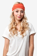 Burnt Orange Polyester Basic Stretchy Headband