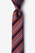 Burnt Orange Silk Banks Skinny Tie