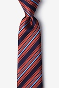 Burnt Orange Silk Banks Tie