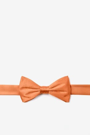 Burnt Orange Bow Tie For Boys