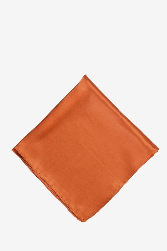 Burnt Orange Pocket Square